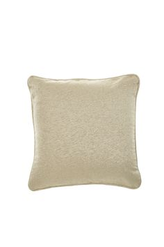 Decorative pillow has a finely ribbed, metallic-look weave fabric with a self welt.   Metallic Throw Pillow by Early To Bed. Home & Gifts - Home Decor - Pillows & Throws Omaha, Nebraska