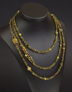 Beadwoven Rope Necklace: Colorplay Series, Version III by NED Beads - gorgeous rope for$195
