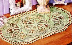 Овальная салфетка. Крючком Crochet Doilies, Table Runners, Rugs, Knitting, Crafts, Home Decor, Hobby, Craft Ideas, Vintage Crochet