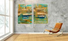 TWO Paintings TWO painting prints, not just ONE - This is a Diptych (2 paintings) abstract mixed media pieces. They are Digital Download/Instant Downloads. Take the files to your local printer and print it on canvas or paper and frame it. Perfect for your living room, bedroom, office, study or Art Series, Modern Art Prints, Affordable Art, Painting Prints, Paintings, Abstract Wall Art, Chalk Paint, Home Art, New Art