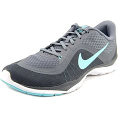 c0015aaf4a8 Womens Nike Flex Trainer 6 Training Shoes Cool Grey Hyper Turquoise Dark  Grey Size All mesh upper provides lightweight breathability. Flywire cables in  the ...