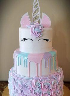 More in my website unicorn cake unicorn cake Girls birthday party. Unicorne Cake, Eat Cake, Cupcake Cakes, 3 Tier Cake, Cupcake Toppers, Unicorn Themed Birthday Party, Birthday Cake Girls, Unicorn Birthday Cakes, Unicorn Themed Cake