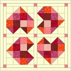 How to lay out your You Are Loved Heart Quilt pattern Half Square Triangle Quilts Pattern, Heart Quilt Pattern, Barn Quilt Patterns, Square Quilt, Small Quilt Projects, Quilting Projects, Quilting Designs, Quilting Tips, Small Quilts