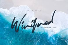 A modern signature font with a handwritten style and smooth movement on Creative Market. Digital design goods for personal or commercial projects. Graphic design elements and resources.