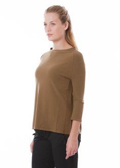 Pullover Grace von annette görtz bei nobananas mode #nobananas #annettegoertz #havana #brown #knit #pullover #fine #viscose #round #neck nobananas.de/shop