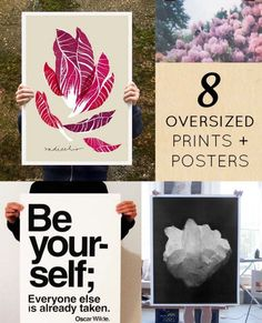 8 OVER-sized posters to love #posters #prints #art #artwork #oversizedprint #oversizedposter #largeprint #largeposter #designsponge