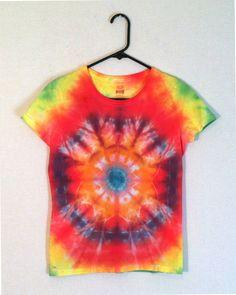 Tie Dye Shirt  Rainbow Mandala TShirt by RainbowEffectsTieDye, $13.00