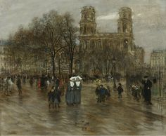 St. Sulpice Square, Paris Jean-François Raffaëlli - Date unknown