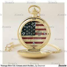 Vintage New U.S. Citizen 2017 Pocket Watch