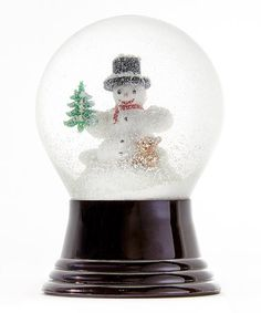 Love this Perzy Snowman & Bear Snow Globe on #zulily! #zulilyfinds