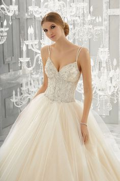 morilee fall 2017 bridal double thin strap sweetheart neckline heavily embellished bustier bodice tulle skirt blush color romantic sexy ball gown wedding dress open back chapel train zv -- Morilee by Madeline Gardner Fall 2017 Wedding Dresses Princess Wedding Dresses, Colored Wedding Dresses, Perfect Wedding Dress, Bridal Wedding Dresses, Wedding Dress Styles, Dream Wedding Dresses, 2017 Bridal, 2017 Wedding, Wedding Wear
