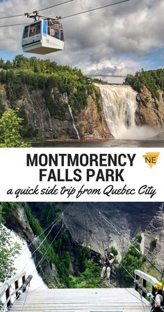 Guide to Montmorency Falls Park / Side trip from Quebec City / Parc-de-la Chute-Montmorency / French Canada Old Quebec, Quebec City, Quebec French, Visit Canada, Canada Eh, Canada Trip, Places To Travel, Places To Go, Travel Destinations