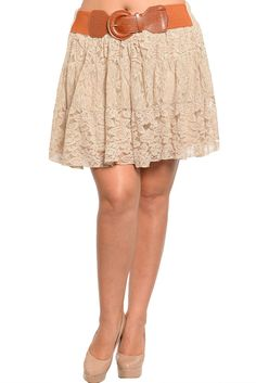 DHStyles Women's Khaki Plus Size Country Chic Floral Lace Mini Skirt with Belt #sexytops #clubclothes #sexydresses #fashionablesexydress #sexyshirts #sexyclothes #cocktaildresses #clubwear #cheapsexydresses #clubdresses #cheaptops #partytops #partydress #haltertops #cocktaildresses #partydresses #minidress #nightclubclothes #hotfashion #juniorsclothing #cocktaildress #glamclothing #sexytop #womensclothes #clubbingclothes #juniorsclothes #juniorclothes #trendyclothing #minidresses…