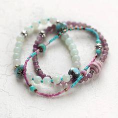 Amazonite And Jade Bracelet Set  by Artique Boutique