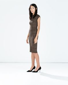Image 1 of JACQUARD DRESS WITH LOW BACK from Zara