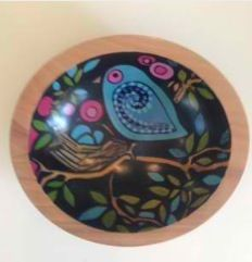 Painted bowls by nancy schaff Sold
