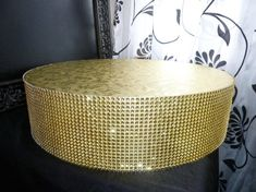 "16"" 18"" round gold bling faux rhinestone wedding cake stand plateau riser cake pop stand display holder cupcake stand candy bar buffet table..."
