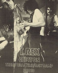 July 1971 Melody Maker trade advert for Get It On released July 1971 Electric Warrior, Marc Bolan, Heavy Rock, The Godfather, Glam Rock, Great Memories, Great Bands, T Rex, Rock And Roll