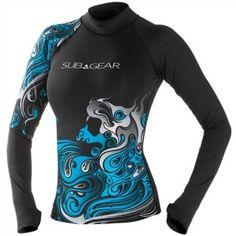 sub gear womens crimp long sleeve rash guard