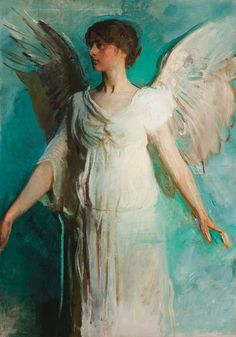 Abbott Handerson Thayer angel #figurative #portrait #art