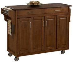 Home Styles 9200-1067G Create-a-Cart, Warm Oak Finish with Cherry Top