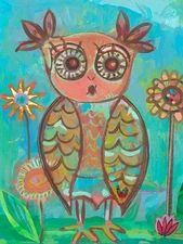 Ms. Owl Canvas Wall Art
