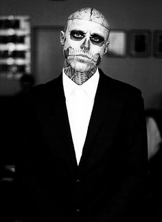 Rick Genest, the only person on earth who can pull off tattoo like this... Sexy!