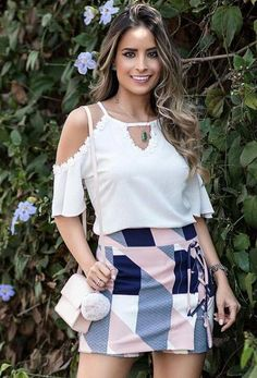 Sexy Casual Skirt And Blouse This Fall 18 Girl Fashion, Fashion Looks, Womens Fashion, Summer Outfits, Summer Dresses, Blouse Styles, Classy Outfits, Skirt Outfits, Casual Chic