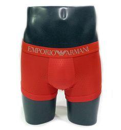 NUEVOS boxer Emporio Armani en MICROFIBRA. Acabado en HEXÁGONOS, parecido al nido de abeja. Color rojo. Oferta 36.95€. Envíos 24/48h