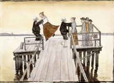 Dance on the Quay, 1899 by Hugo Simberg on Curiator, the world's biggest collaborative art collection. Dance Of Death, Henri Rousseau, Henri Matisse, James Nachtwey, Marc Riboud, August Sander, Francisco Goya, Hobgoblin, Digital Museum