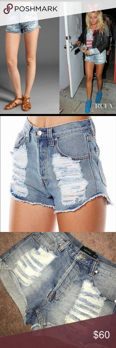 MINK PINK slasher flick denim shorts medium A+++ SOLD OUT!! BRAND NEW!! AMAZING!!!! 🔥 MINK PINK SLASHER FLICK CUTOFF JEAN SHORTS size Medium. I have same shorts, in white listed too! These shorts are sold out everywhere! Never worn! Celebs have been wearing these nonstop! MINKPINK Shorts Jean Shorts
