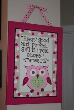 So perfect for the nursery - of course, minus the pink and polka dots for my little man!