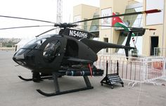 MD Helicopters shows off it's prototype MD540A armed scout helicopter in Jordan.