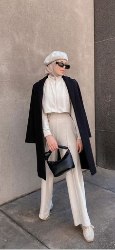 Modest Fashion Hijab, Modesty Fashion, Muslim Fashion, Modest Outfits, Fashion Outfits, Business Outfits Women, Hijab Fashion Inspiration, Korean Girl Fashion, Hijabs