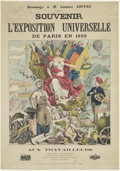 Poster: Souvenir of World's Fair in Paris, 1889