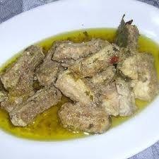 Burrida (little shark marinated with walnuts)