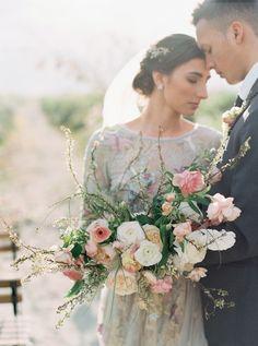 Soft & romantic wedding inspiration under pastel skies | Portland Wedding Inspiration