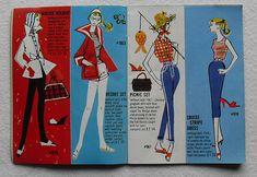 Barbie and Ken 1961 Mattel Vintage Fashion Illustration Catalogs 1960s (3)