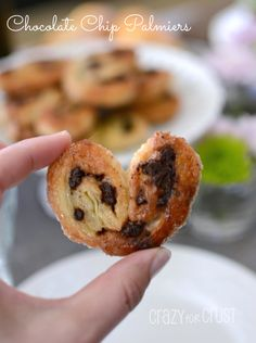 Chocolate Chip Palmiers - so easy to make and they taste just like the ones in Paris! #chocolate #palmier #picnic www.crazyforcrust.com