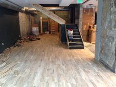 We laid about 2,000 square feet of hardwood floors ourselves.  They are beautiful.  Almost done!