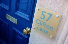 Gold #House #Sign from De-signage