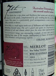 Wine back labels - tear off strip with brand name to remember it by!