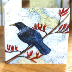 Little Map Gift Card Tui NZ CARDS-All Occasions The Vault is NZ's leading store for unique gifts, contemporary NZ made jewellery, kiwiana and quirky, designer home wares and art. NZ made is our speciality. Kiwiana, Unique Gifts, Jewelry Making, Map, Bird, Gift Cards, Art Ideas, Painting, Design