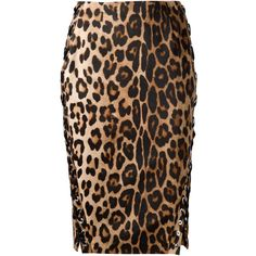 Altuzarra leopard print pencil skirt (2,022 CAD) ❤ liked on Polyvore featuring skirts, brown, black knee length pencil skirt, pencil skirt, altuzarra, leopard skirt and brown pencil skirt