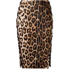 Altuzarra leopard print pencil skirt (2,022 CAD) ❤ liked on Polyvore featuring skirts, brown, black knee length pencil skirt, pencil skirt, altuzarra, leopard skirt and brown pencil skirt