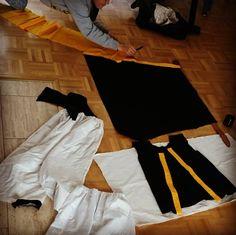 2nd girl preparing for Japan festival cosplay in Dusseldorf :) デュッセルドルフの日本祭りのためコスプレを準備している次女