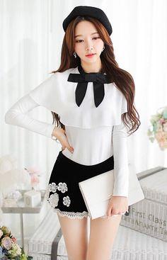 White Bow Ruffle Chiffon Long Sleeve Vintage Style Shirt - Morpheus Boutique