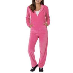 Danskin Now Women's Velour Hoodie and Pant Tracksuit