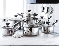 I would love this for christmas to cook for my family!   #SearsWishlist  Lagostina® Cucina Classica 18-Piece Cookware Set