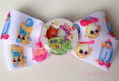 Shopkins Boutique Hairbow Clip by OliverandMay on Etsy